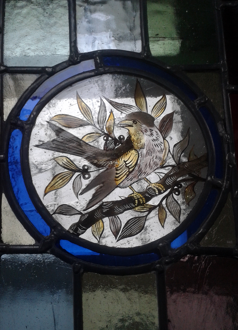 Reproduction Victorian bird roundel.