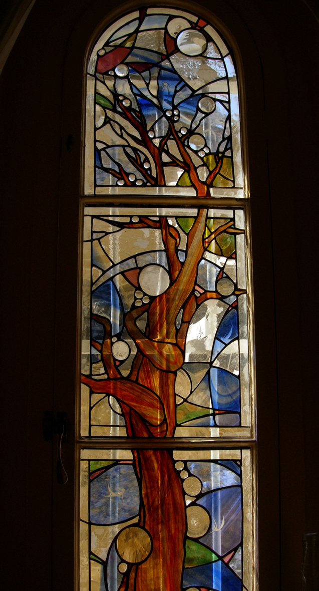 Tree of life window for private house in Holland Park.