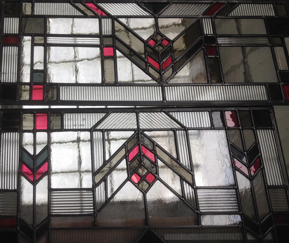 Frank Lloyd Wright style window.