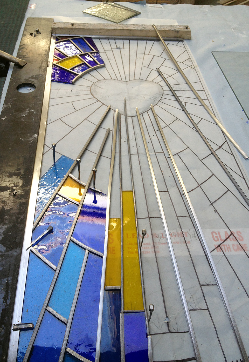 Sacred Heart panel.